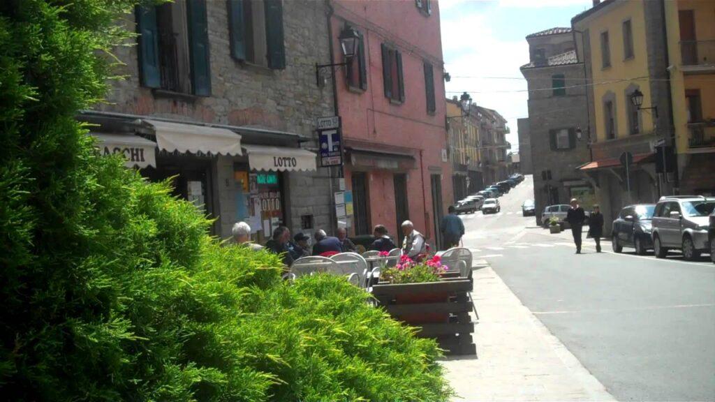 A sunny corner bar in the italian province of Monghidoro