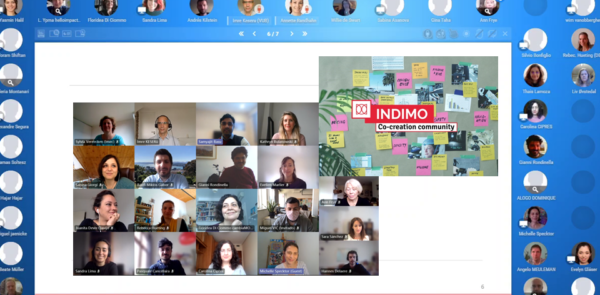 Screenshot of the first online INDIMO co-creation workshop