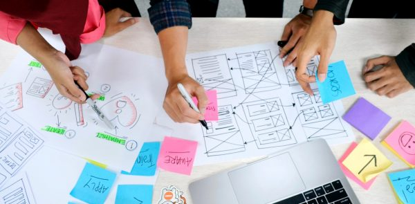 picture of a post-it session during a workshop